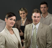 Businesswoman and team Stock Photos