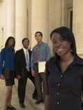 Businesswoman team lead