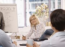 Businesswoman on team meeting Royalty Free Stock Images