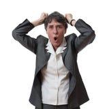 Businesswoman tearing hair Stock Image