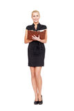 Businesswoman teeth smile Royalty Free Stock Photography