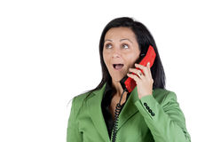 Businesswoman on the telephone Stock Image