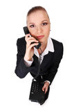 Businesswoman with telephone Stock Photography