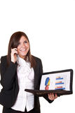 Businesswoman with telephone Royalty Free Stock Photos