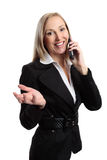 Businesswoman telephone conversation Royalty Free Stock Images