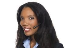 Businesswoman - telephone operator Stock Photos