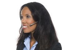 Businesswoman - telephone operator Royalty Free Stock Images