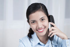 Businesswoman With Telephone Royalty Free Stock Photo