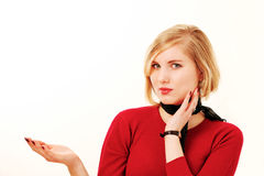 Businesswoman with text space Stock Photos