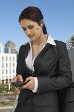Businesswoman Texting Message Royalty Free Stock Image