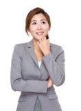 Businesswoman think of idea Royalty Free Stock Photo