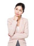 Businesswoman think of idea Stock Photos