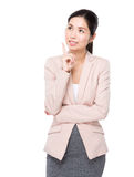 Businesswoman think of idea Stock Images