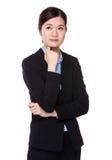 Businesswoman think of idea Stock Image