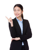 Businesswoman think od something Stock Photos