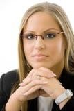 Businesswoman thinking Royalty Free Stock Photos