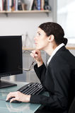 Businesswoman thinking Stock Images
