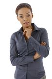 businesswoman thinking στοκ εικόνες