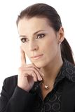 Businesswoman thinking Royalty Free Stock Images