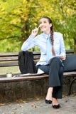Businesswoman thinking Stock Photography