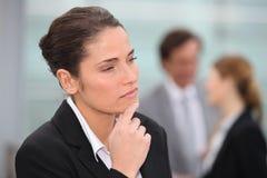 Businesswoman thinking Stock Image
