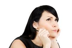 businesswoman thinking στοκ φωτογραφία με δικαίωμα ελεύθερης χρήσης