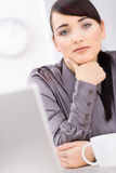Businesswoman thinking Royalty Free Stock Photography