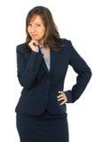 Businesswoman thinking Royalty Free Stock Image