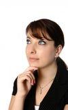 Businesswoman thinking pose Royalty Free Stock Photos