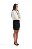 Businesswoman thinking about something royalty free stock photography