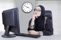 Businesswoman thinking something Stock Photography