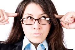 businesswoman thoughtful young στοκ φωτογραφίες με δικαίωμα ελεύθερης χρήσης
