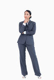 Businesswoman in thoughts Royalty Free Stock Photography