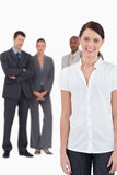 Businesswoman with three co-workers Royalty Free Stock Photos