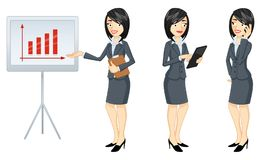 Businesswoman in three versions - Illustration Stock Photos