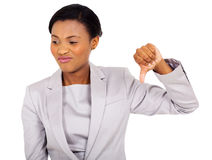 Businesswoman thumb down Royalty Free Stock Photo