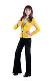 Businesswoman thumb up. Royalty Free Stock Photo