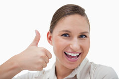 Businesswoman with the thumb up Royalty Free Stock Photo