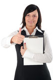 businesswoman thumb up Стоковые Фото