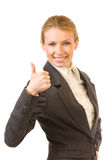 Businesswoman with thumb up Stock Photography