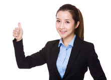 Businesswoman with thumb up royalty free stock images