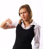 Businesswoman with thumbs down Royalty Free Stock Photography