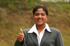 Businesswoman Thumbs Up royalty free stock photo