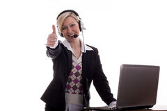 Businesswoman thumbs up Royalty Free Stock Photos