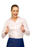 Businesswoman with thumbs up Stock Image
