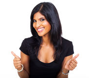 Businesswoman thumbs up Royalty Free Stock Images