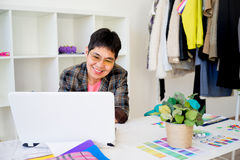 Businesswoman thumbs up Stock Photos