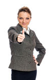 Businesswoman With Thumbs Up Royalty Free Stock Photos