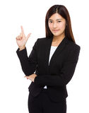 Businesswoman with tick sign Royalty Free Stock Photography