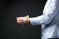 Businesswoman with Tied Up Hands Stock Image